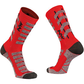 Northwave Husky Ceramic Tech High Sock Men, red/black